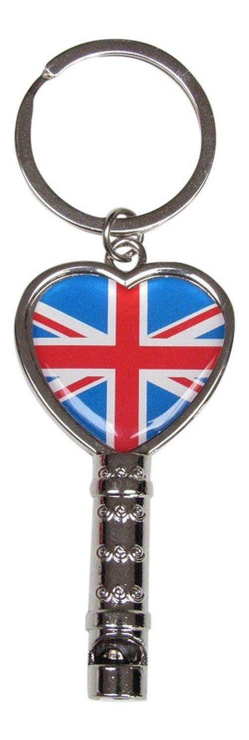 joya bolsa silbato bandera UK Reino Unido Partidari. Llavero Fun