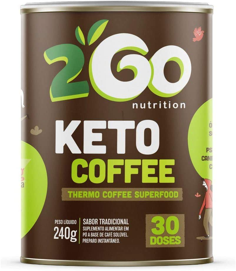 Keto Coffee - 240g Sabor Tradicional - 2Go Nutrition, 2Go Nutrition