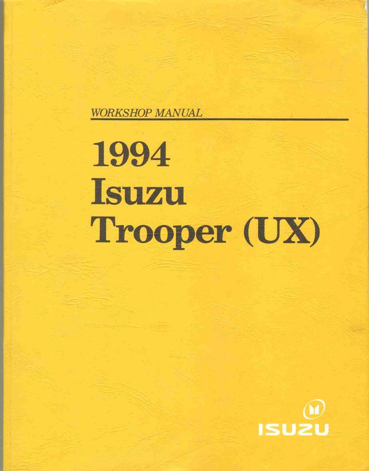 1994 isuzu trooper ux workshop manual isuzu amazon com books rh amazon com 1993 isuzu bighorn workshop manual isuzu bighorn workshop manual free download