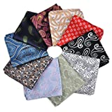 10pcs 12''x 12'' Men Paisley Jacquard Pocket Square Gift ciciTree