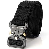 Ceinture tactique de 3,8 cm, ceinture durable, ceinture de nylon militaire réglable, veste de rappel multifonctionnelle, amateurs militaires, métal, boucle Cobra (sac OPP)