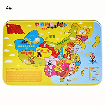 60Pcs Kid Puzzle Jigsaw, China Map Pony Self Assembly DIY Educational Toy for Spare Time 4#: Toys & Games
