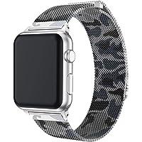 iTerk Correa de Acero Inoxidable Compatible para Apple Watch, Correa de Malla milanesa para iWatch Series 4 Series 1 2 Series 3 con Cierre magnético 38 mm 40 mm 42 mm 44 mm
