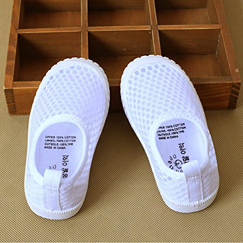CIOR Kids Slip-On Breathable Sneakers For Running Beach Toddler/Little Kid,808white,25 1