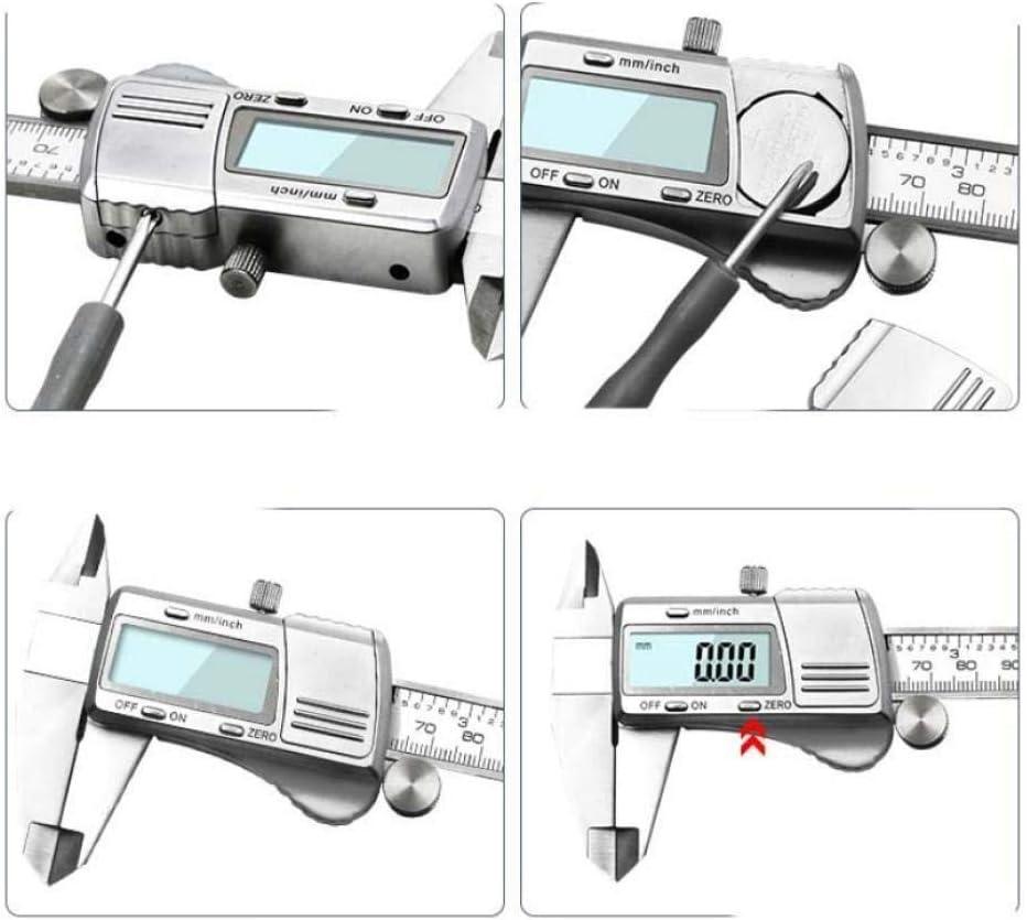 Caliper Digital Caliper Stainless Steel Electronic Vernier Calipers Metric//Inch Micrometer Gauge Measuring Tools