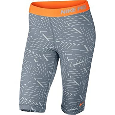 Nike Pro Womens Pro Bash 11 Compression Shorts (SM x 11, GreyOrange