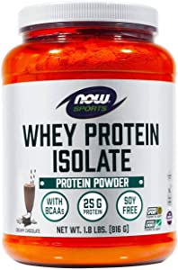 NOW Foods Whey Protein Isolate, 1.8 lb, Dutch Chocolate