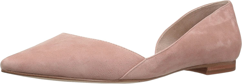 Marc Fisher LTD Women's Sunny4 Pointed Toe Flat B01MAXV5B2 7.5 B(M) US|Light Pale Rust Kid Suede