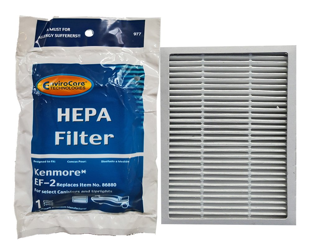 Kenmore Progressive EF 2 Pleated Vacuum HEPA Filter for 86880 Sears Vacuum Cleaners, C38KBRM, 20-86880, EF-2, 40320, 02080001000, 610445, MC-V194H, MCV194H, KER-1805, 748167711949, 471194 (2 Pack) 86680