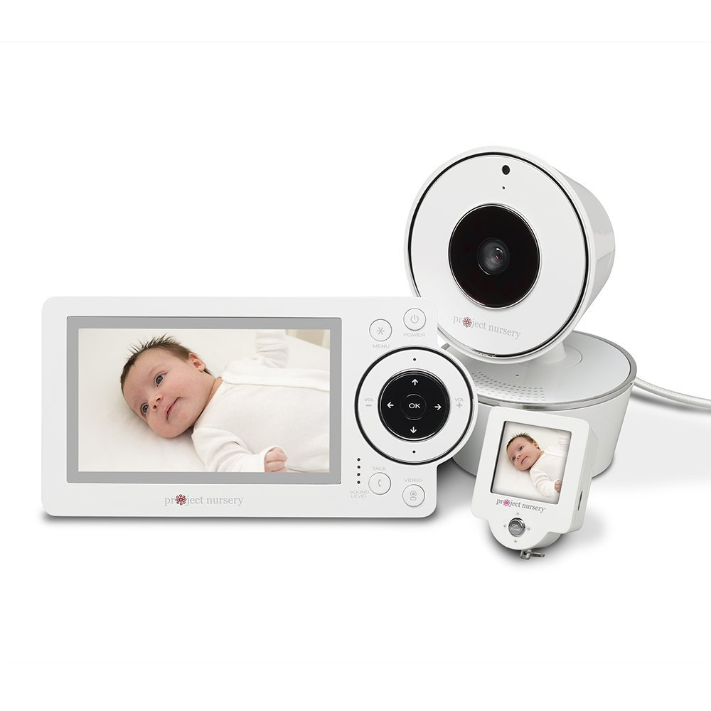 Project Nursery 4.3'' Video Baby Monitor System - LCD Parent Unit with Remote Pan/Tilt/Zoom Camera and Convenient 1.5'' Mini Monitor