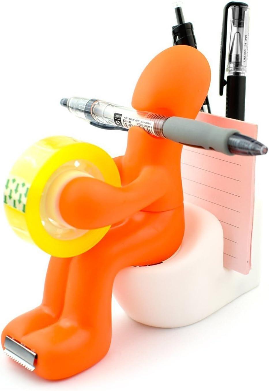 Thenese 'The Butt' Office Supply Station Desk Accessory Holder Butt Station Pen Holder for Desk, Orange
