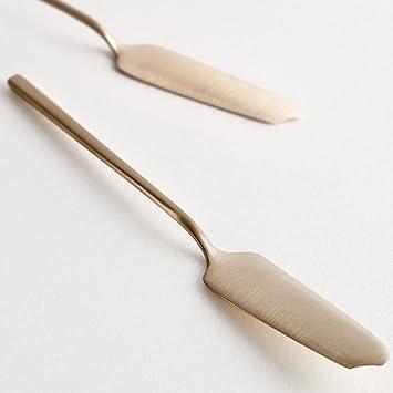 La Foret Latón cubiertos cuchillo de mantequilla Bronce: Amazon.es: Hogar