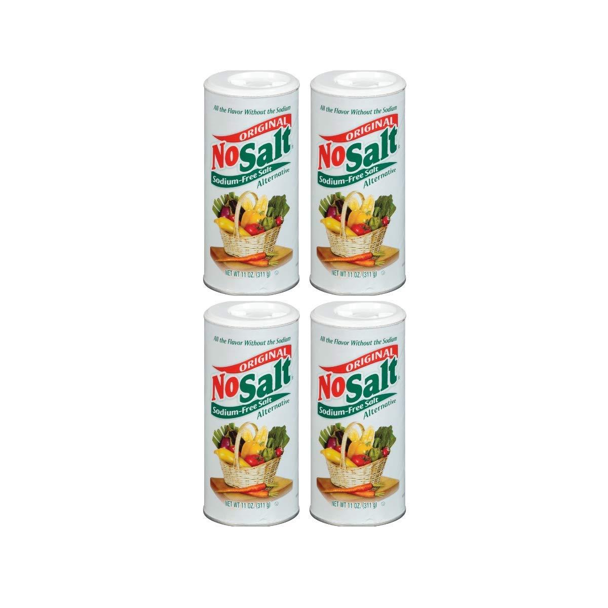 NoSalt Original Sodium-Free Salt Alternative (11oz Canister 4 pack)