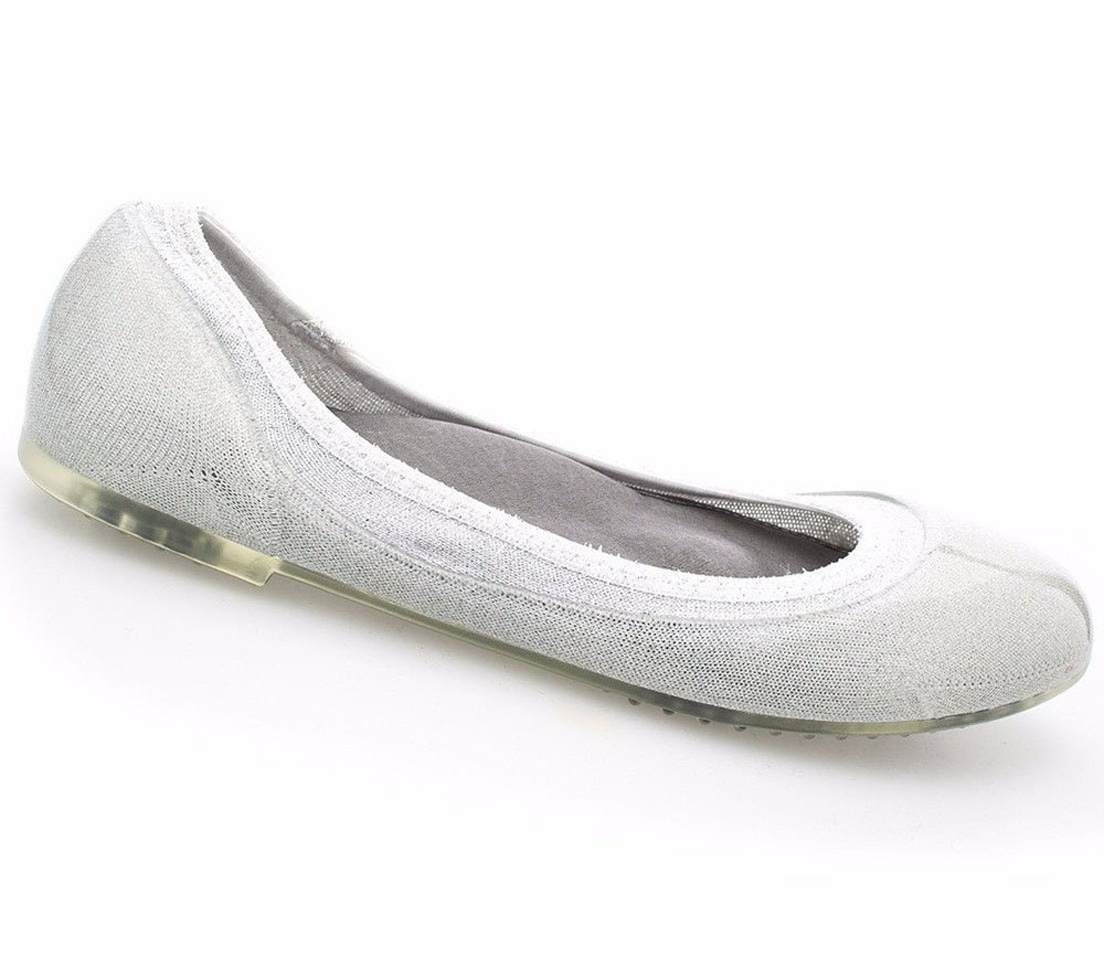 Javie Womens Summer Maternity Shoes Comfortable for Pregnancy Every Day Wear B07DFJ78KQ 35 M EU|Silver Lurex