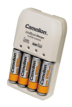 Camelion BC-0905 - Cargador de pilas (incluye 4 pilas AA ...