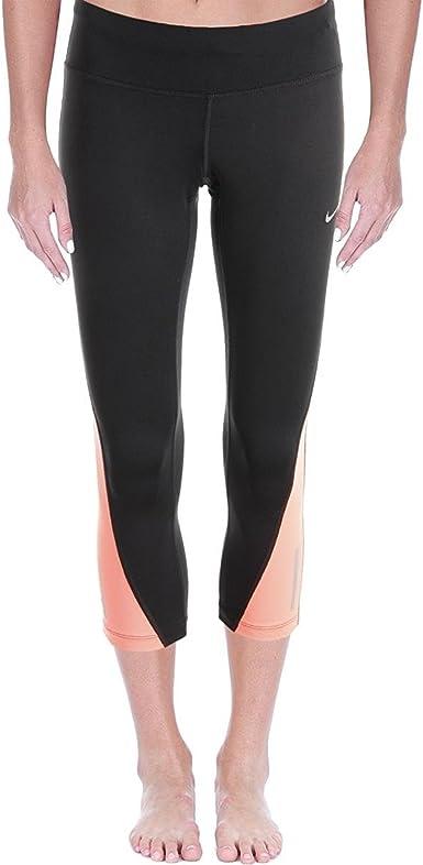 Amazon Com Nike Womens Cropped Seamed Athletic Leggings Black Xs Clothing