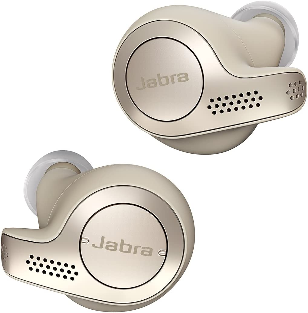 Jabra Elite 65t Alexa Enabled True Wireless Earbuds with Charging Case – Gold Beige (Renewed)