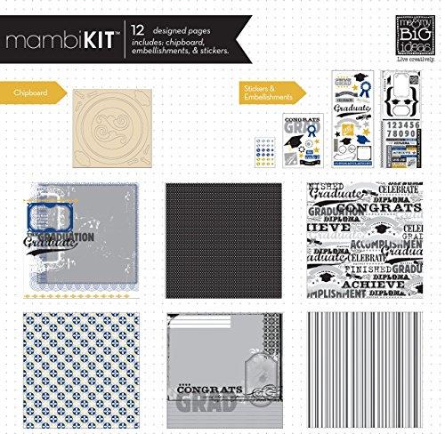 me & my BIG ideas Scrapbook Page Kit, Congrats Grad, 12-Inch