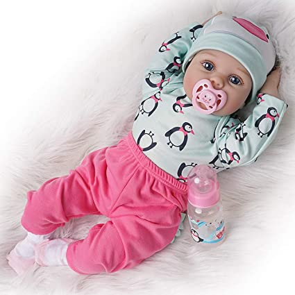 Amazon.com: Reborn Baby Dolls Girl Vinilo de silicona ...