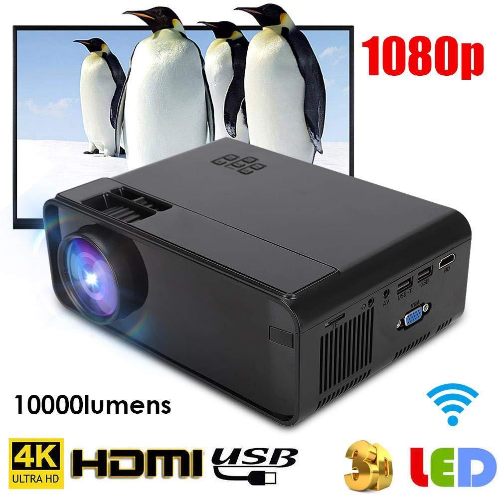 Mugast Proyector 4K FHD WiFi, Bluetooth portátil 1500 Brillo ...