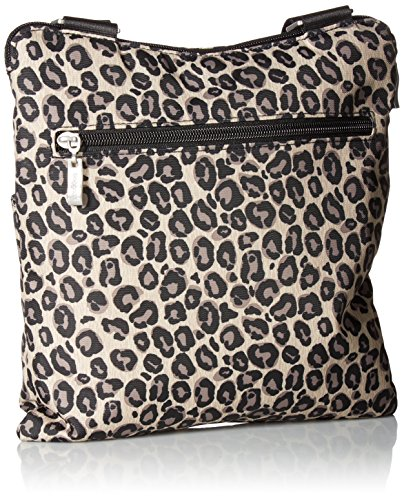 Leopard Removable Horizon Travel Water with Wristlet Baggallini Resistant Lightweight Bag Purse �C Crossbody Multi Pocketed B7H67A