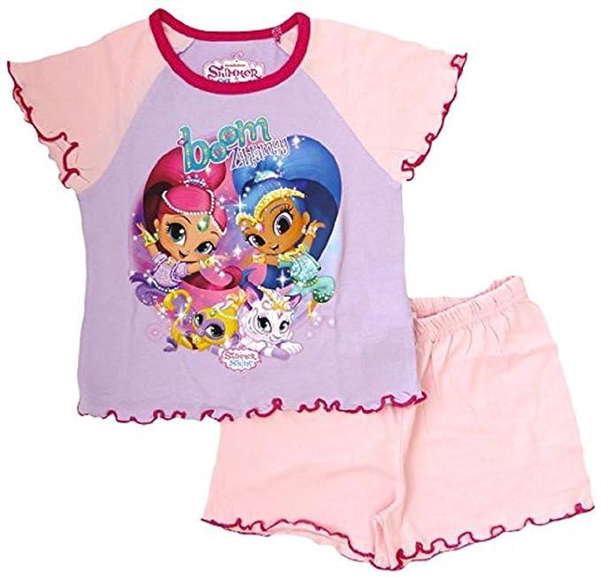 Shimmer & Shine - Pijama - para niña Rosa Rosas 18-24 Meses