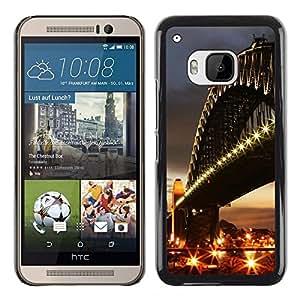Exotic-Star ( Architecture City Bridge ) Fundas Cover Cubre Hard Case Cover para HTC One M9