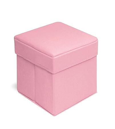 Badger Basket Folding Storage Seat, Pink