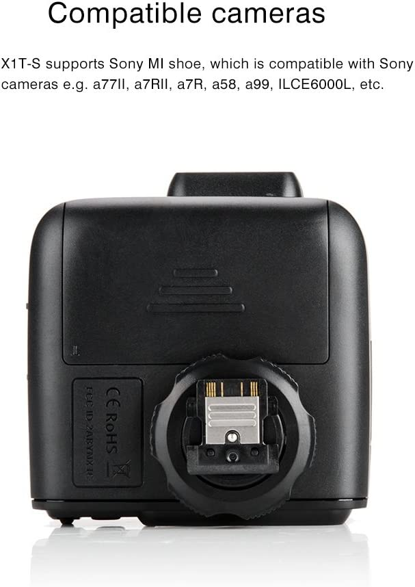 Godox AD600BM 600Ws GN87 1//8000 HSS Outdoor Flash Strobe Monolight with X1T-S TTL Wireless Flash Trigger and 8700mAh Battery with MI Shoe Like A77II A7RII A7R A58 A99 ILCE6000L