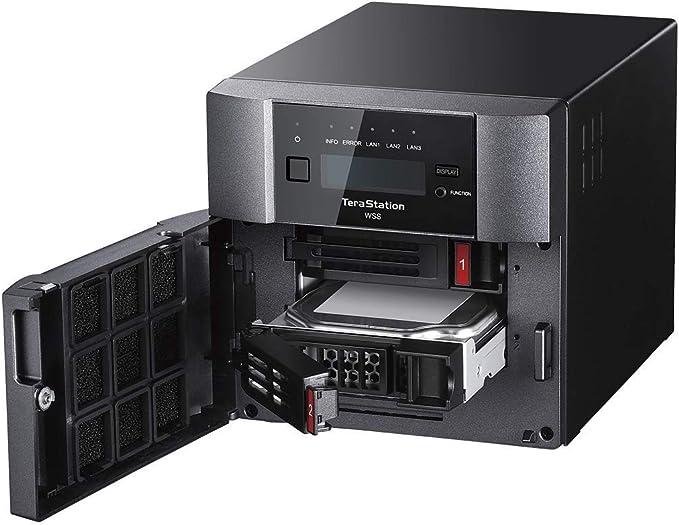 TALLA 8 TB. Buffalo TeraStation WS5220DN08W6EU - Servidor NAS de Escritorio con Windows Storage Server 2016 de 8 TB (Incluye 2 Discos Duros NAS de 4 TB)