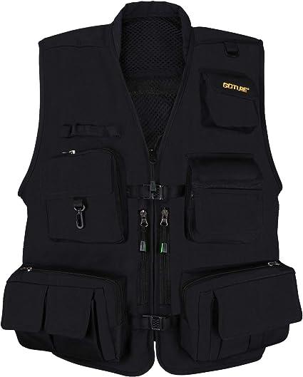 Men/'s Vest Multi-pocket Waistcoat Outdoor Sports Photography Fishing Vest Hiking