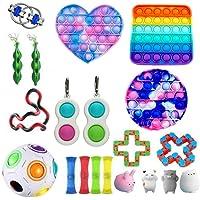 Pacote de brinquedos de ansiedade, brinquedos sensoriais, kit de ferramentas para alívio de estresse e ansiedade…