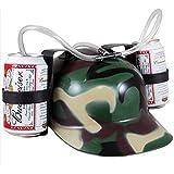Novelties Beer Soda Guzzler Helmet Drinking Camo Party Hat Drinking Helmet Camouflage by PurFits