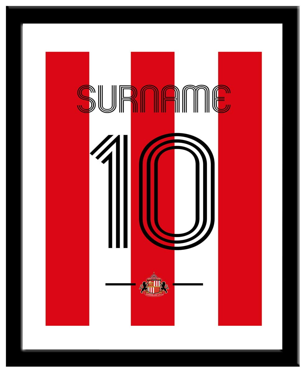 Sunderland Personalised AFC Retro Shirt Framed Print
