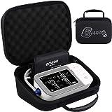 BOVKE Carrying Case Travel Bag for Omron 10 Series BP5450 Platinum Blood Pressure Monitor Premium Upper Arm Cuff Digital Bluetooth Blood Pressure Machine, (Black + Inside Black)