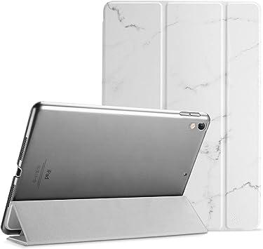 """ProCase Funda 10,5"""" iPad Pro 2017/iPad Air 2019, Estuche Inteligente Ultra Delgada Ligera con Soporte Reverso Translúcido Esmerilado para iPad Air 3.ª Generación/iPad Pro 10.5 Pulgadas -Mármol Blanco: Amazon.es: Electrónica"""