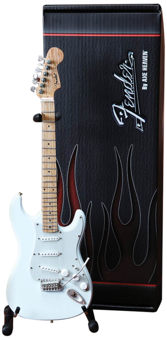 Axe Heaven FS-008 Fender Strat Olympic White Finish Miniature Guitar Replica