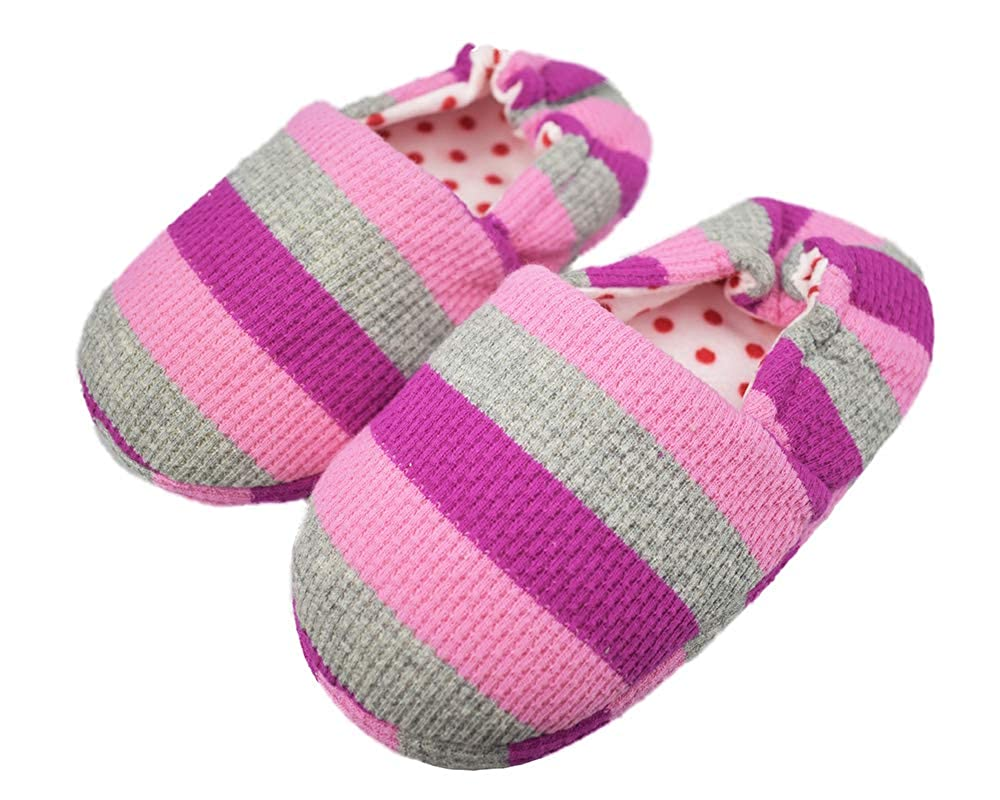 Tirzrro Little Kids Unisex Child Winter Warm Slippers Toddler Indoor Slip-on Shoes D03