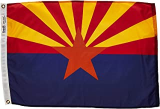 product image for Annin Flagmakers Model 140250 Arizona Flag Nylon SolarGuard NYL-Glo, 2x3 ft, 100% Made in USA to Official State Design Specifications