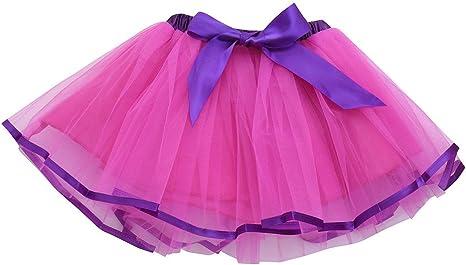 Liqiqi - Falda de tul para niña con tutú, falda de encaje, arco ...