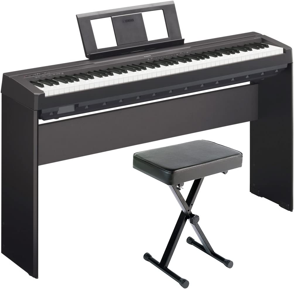 Yamaha P45 Digital Piano Deluxe Bundle with Furniture Stand and Bench