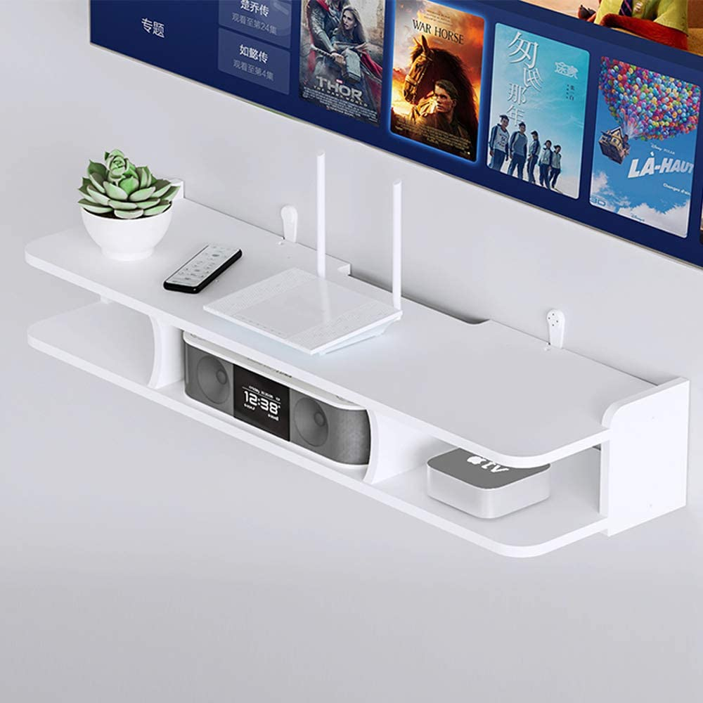 Floating Tv Stand Easy To Assemble Tv Console Unit With Shelving Entertainment Center Display Unit Wall Mounted Tv Unit For Cd Xbox One Ps4 Cable Box Dvd Playe Video Game Console Amazon Co Uk Kitchen Home