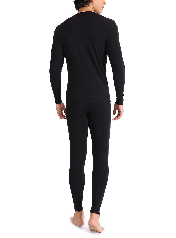 Genuwin Mens Thermal Underwear Set Long John Underwear Fleece Lined Base Layer Set