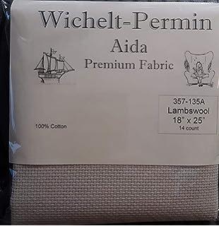 "Wichelt Imports PREMIUM Cross Stitch Fabric AIDA 14 count 18/"" X 25/"" PEWTER Gray"