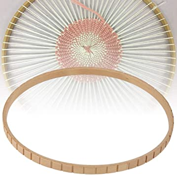 Knitting Loom Round Wooden Weaving For Home Wall Hangings DIY Craft Machine