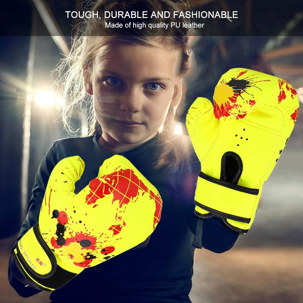 Wbestexercises Kids Boxing Gloves PU Leather Children MMA Sparring Dajn Training Gloves Punch Training Fight Mitts for Baby Girls Boys Age 2 to 11 Years