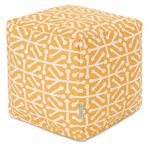 Majestic Home Goods Citrus Aruba Indoor/Outdoor Bean Bag Ottoman Pouf Cube 17