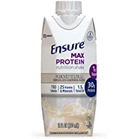 Ensure Max Protein Nutritional Shake with 30g of High-Quality Protein, 1g of Sugar, High Protein Shake, French Vanilla…