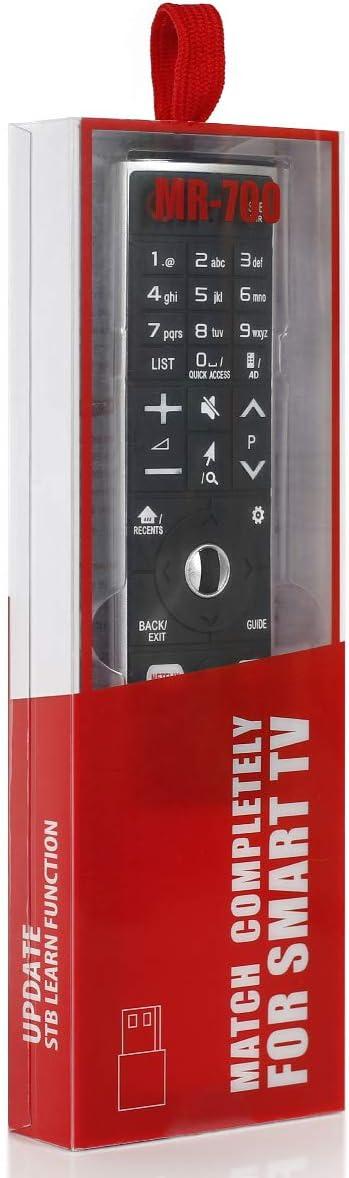 Smart TV Magic MR-700 Mando a distancia de repuesto compatible con LG AN-MR700, AN-MR600 y LG AN-MR650 Magic Remote con NRTFLIX Amazon Keys: Amazon.es: Electrónica