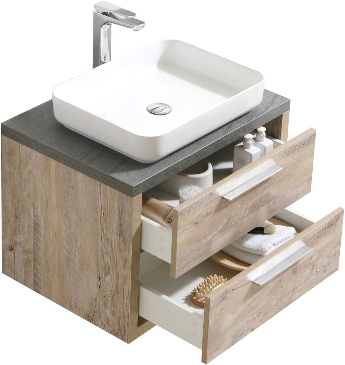 Bathroom Bath Furniture Indiana 70 cm Nature Wood-Under Cabinet Sink Mirror